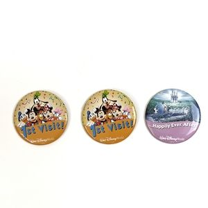 Disney WDW Set of 3 Buttons